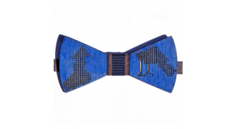 "Wooden Bow Tie ""Birds"""