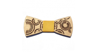 "Wooden Bow Tie ""Tangorskaya brown"""