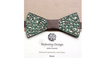 "Wooden Bow Tie ""Forest Nets"""