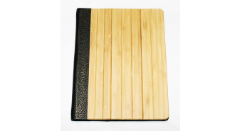Bamboo iPad Case with leather insert