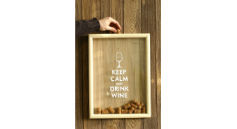 Wine Bottle Cork Collector Box
