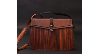 "Wood clutch-bag ""Nostalgi"""