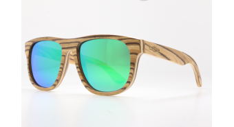 Multilayer Wood Sunglasses S1406 - layered maple