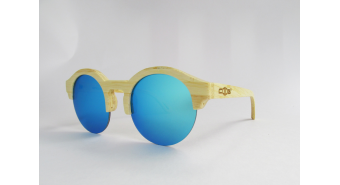 Sunglasses from laminated bamboo S0303