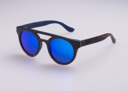 Multilayer Wood Sunglasses S0316 - ebony and maple
